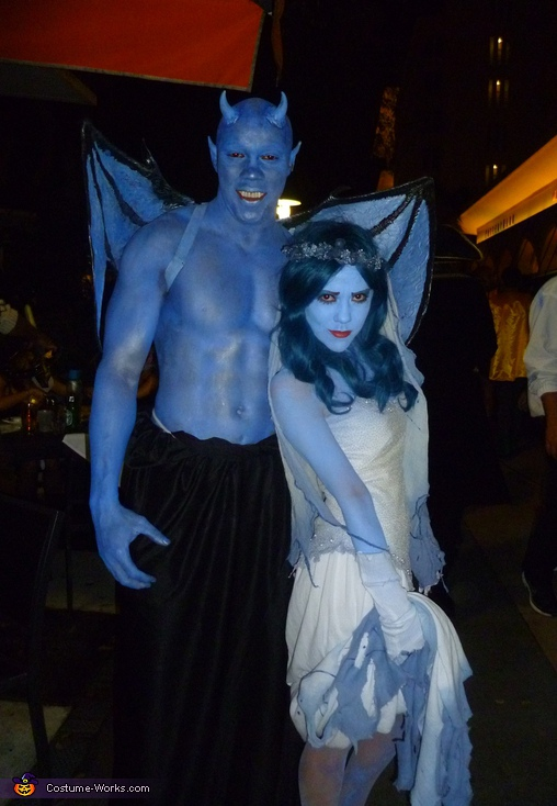 Demonic Blue - Homemade costumes for couples