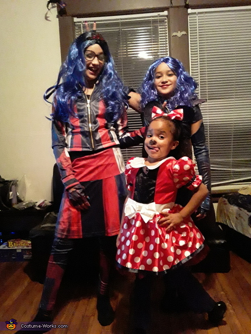 Descendants Evie, Mal and Minie Mouse Costume