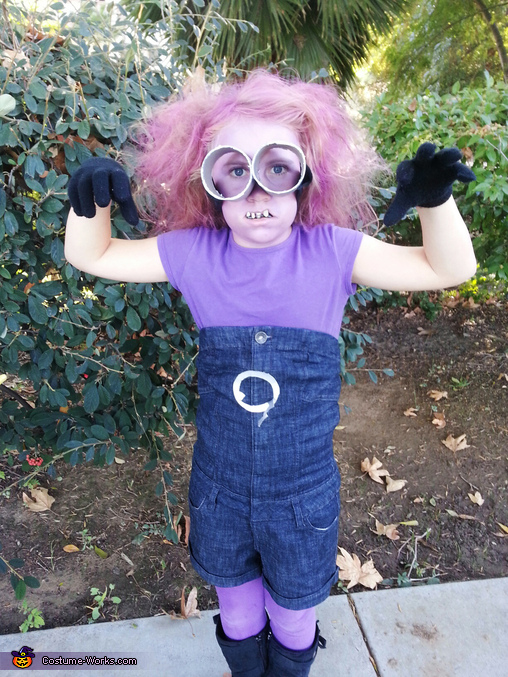Kevin, the evil purple minion, Despicable Me 2 Family Costume