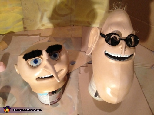 The Finished Heads, Despicable Me Family Costume