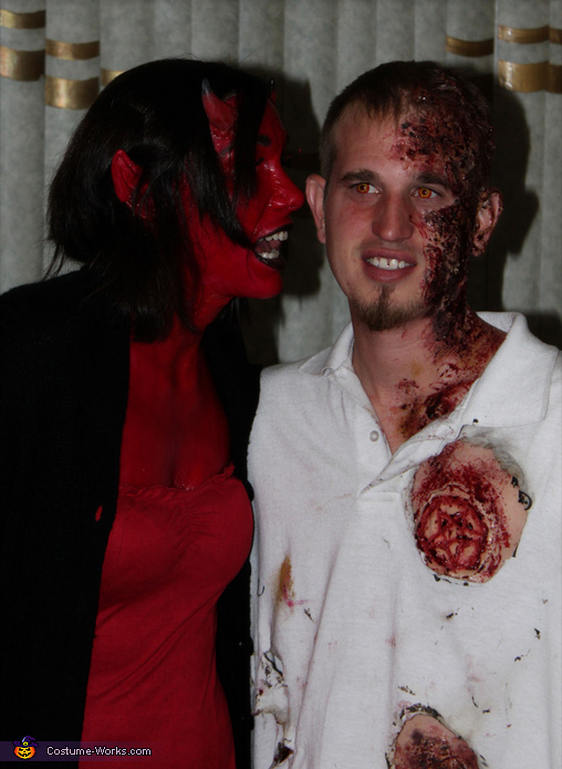 Devil and Burning Soul - Homemade costumes for couples