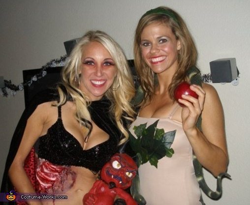 Evil baby with Eve , Devil Baby Costume