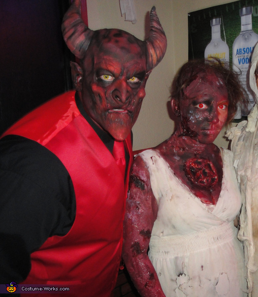 Devil and Burning Soul Couple Costume