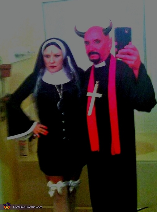 Devil Priest and Possessed Nuns Homemade Costume