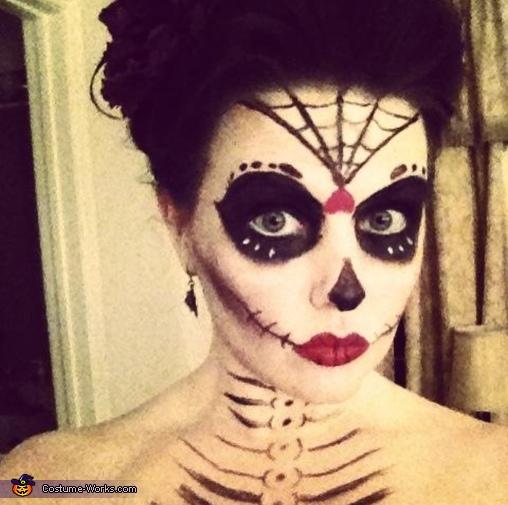 My makeup, Dia de los Muertos Day of the Dead Couples Costume
