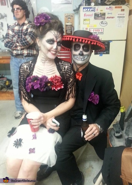 Dia de los Muertos Day of the Dead Couples Costume