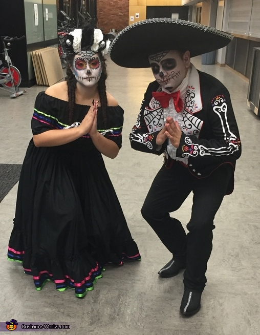 Blessed in the after life, Dia de los Muertos Folklorico Dancers Costume