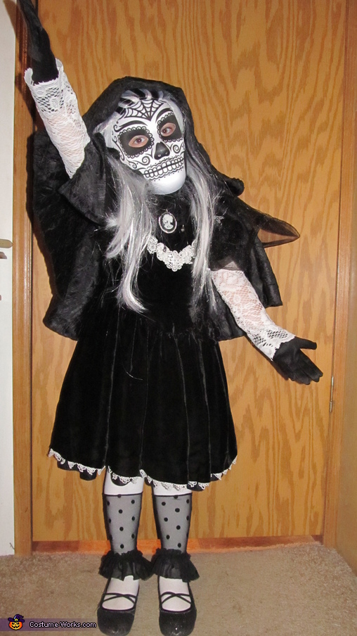 Dia de los Muertos Skeleton Princess Homemade Costume