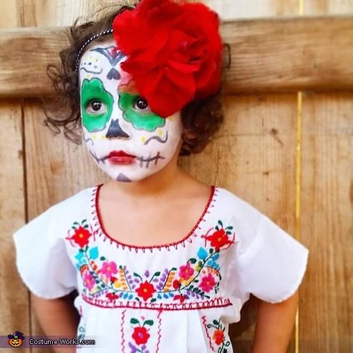 Ellies dia de los muertos sugar skull costume, Dia de los Muertos Sugar Skull Costume