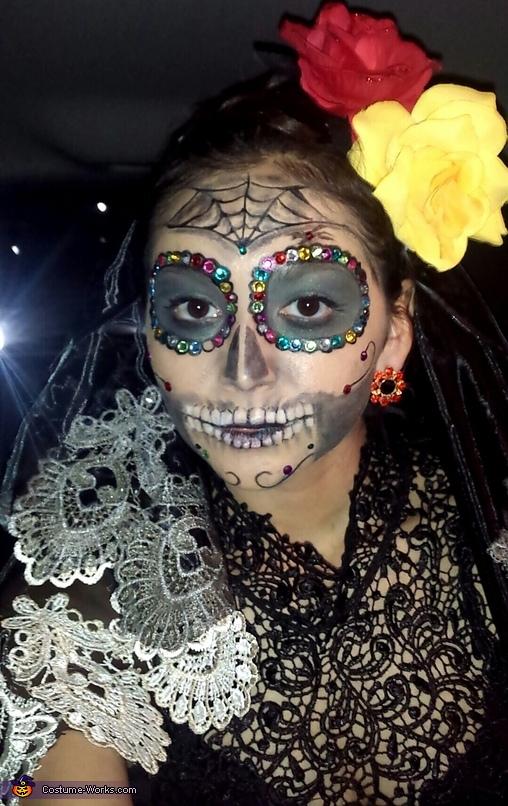 Mexican Sugar Skull, Dia de los Muertos Sugar Skulls Costume