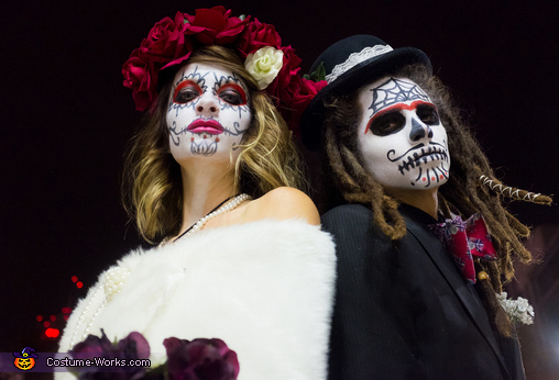 Shaun & Bethany, Dia de los Muertos Wedding Night Costume