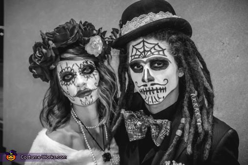 Shaun & Bethany, Dia de los Muertos Wedding Night Costume
