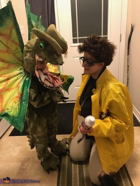 Dilophosaurus and Dennis Nedry Homemade Costume