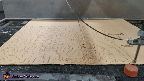 "Laser Jet cutting, ""Dino Bones"" T-Rex Skeleton Costume"