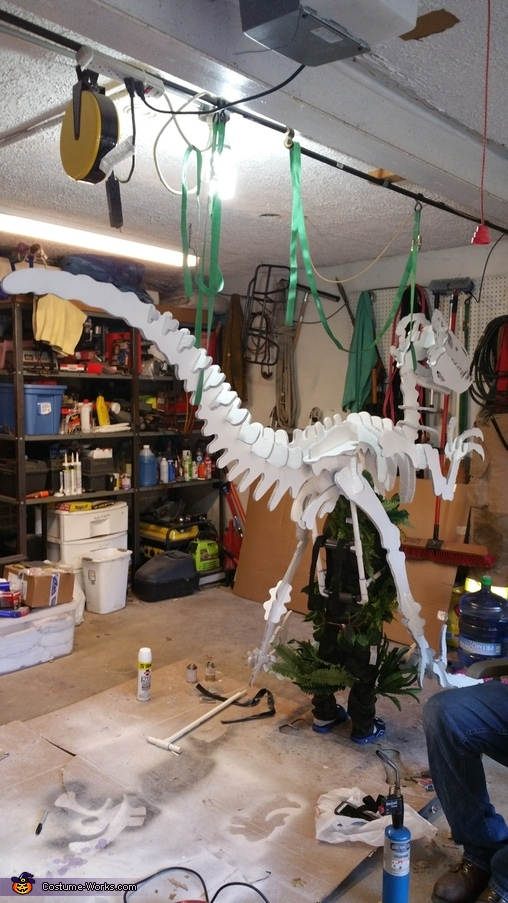 "Construction, ""Dino Bones"" T-Rex Skeleton Costume"