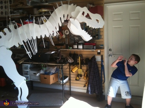 Dino the T-Rex Homemade Costume