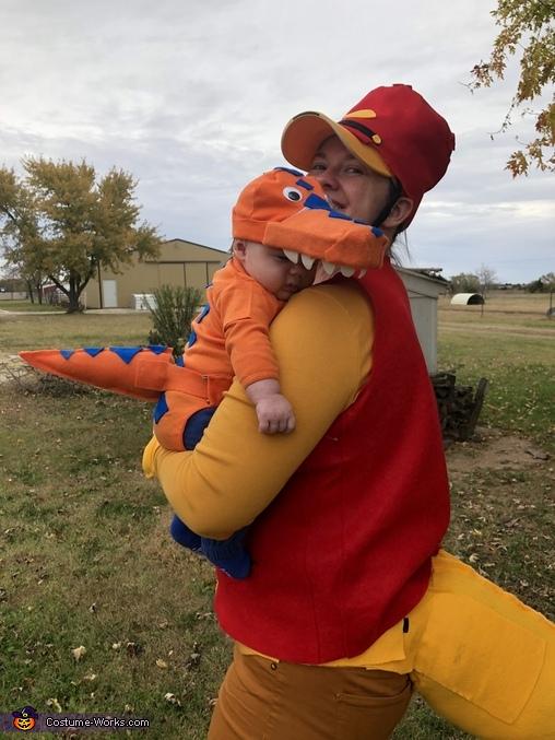 Buddy the tiny T Rex, Dinosaur Train Characters Costume