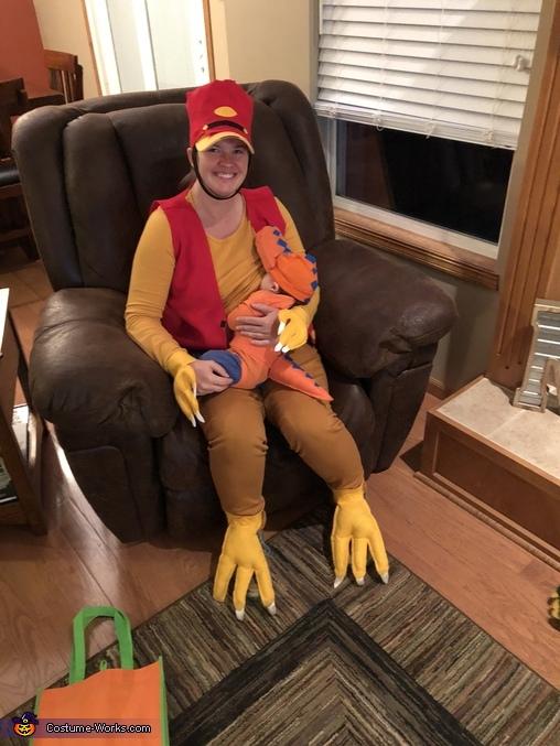 Feeding the baby T Rex, Dinosaur Train Characters Costume