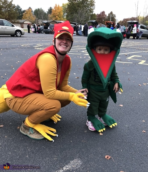 Mr Conductor and Tiny (age 2), Dinosaur Train Characters Costume