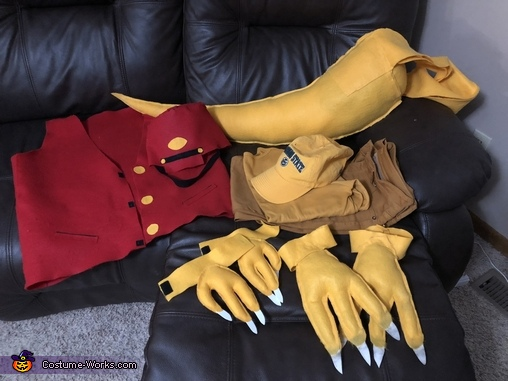Mr Conductor costume parts, Dinosaur Train Characters Costume