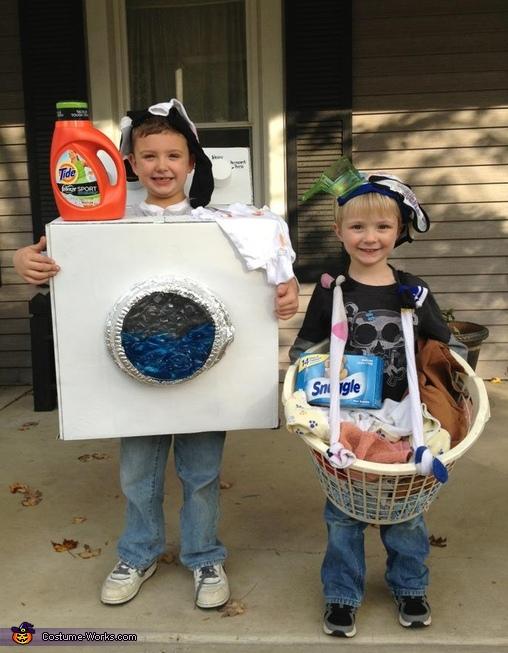 Dirty Laundry Washing Machine And Laundry Basket Costumes