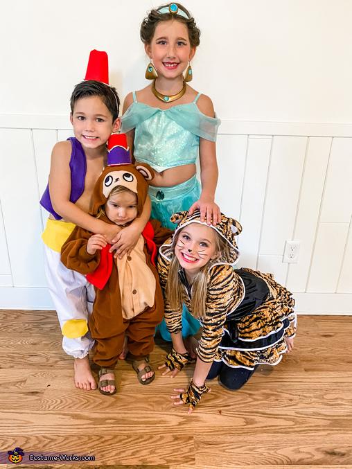 Aladdin, Jasmine, Raja and Abu, Disney Aladdin Costume