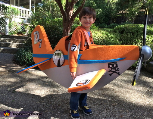 Luke wearing Dusty, Disney Planes Dusty and El Chupacabra Costume