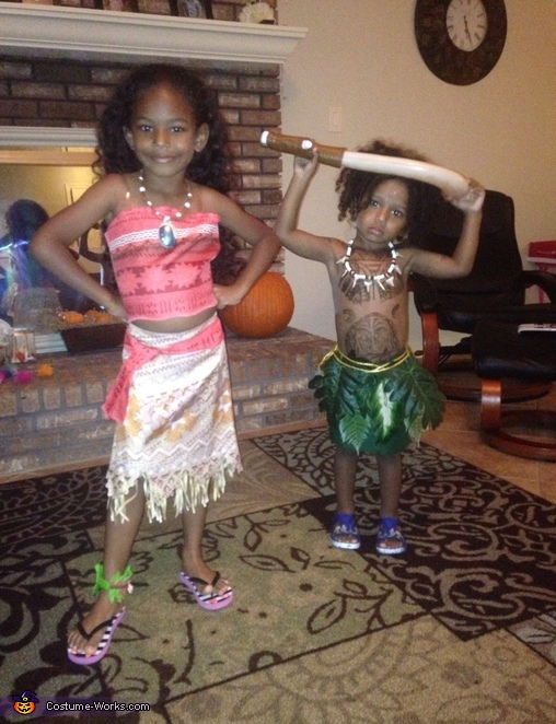 disney princess moana and demigod maui costume