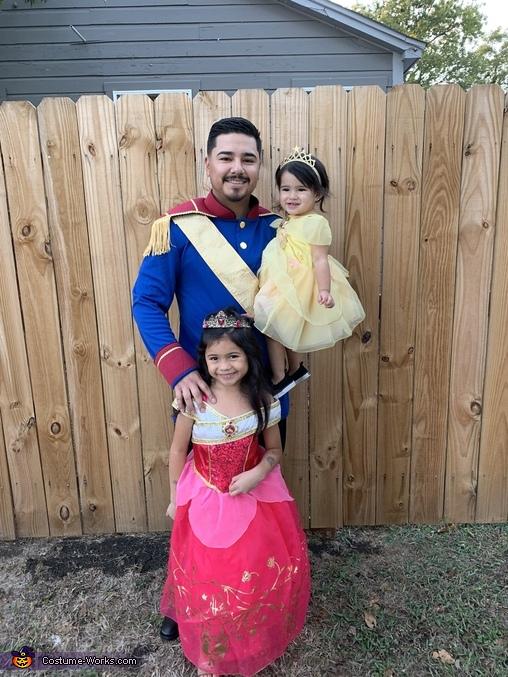 Disney Princesses and Prince Homemade Costume