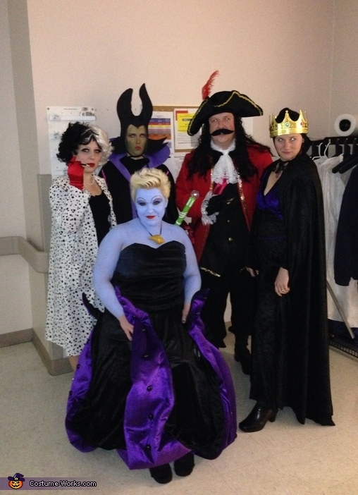 evil at work disney villains group costume