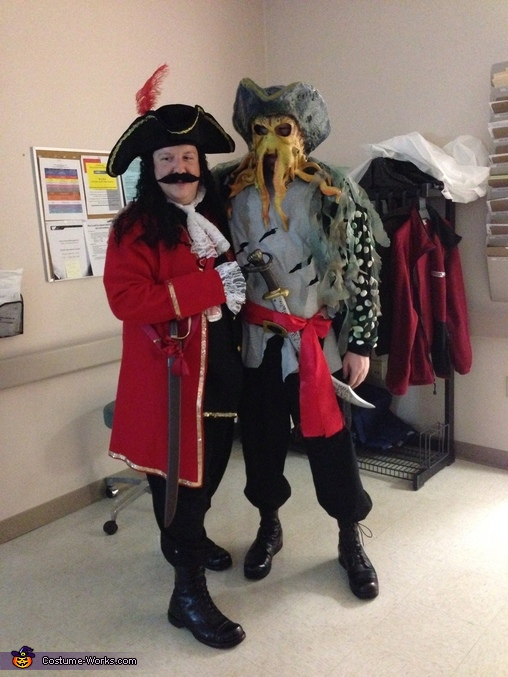 Captain Hook and Davy Jones, Disney Villains Group Costume