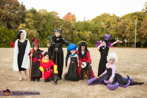 Halloween Disney Villains.Disney Villains Family Halloween Costume