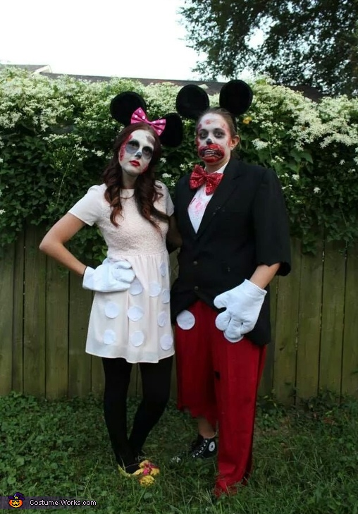 Mickey and Mini!!!, Disney Zombie Group Costume