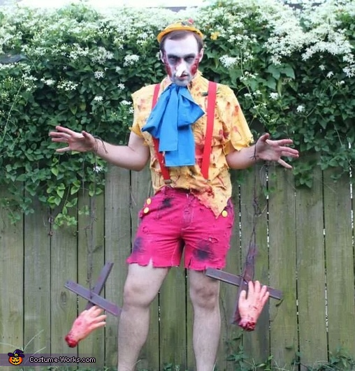 Pinocchio with Gepetto s hands dangling   Disney Zombie Group CostumeZombie Disney Characters Costumes