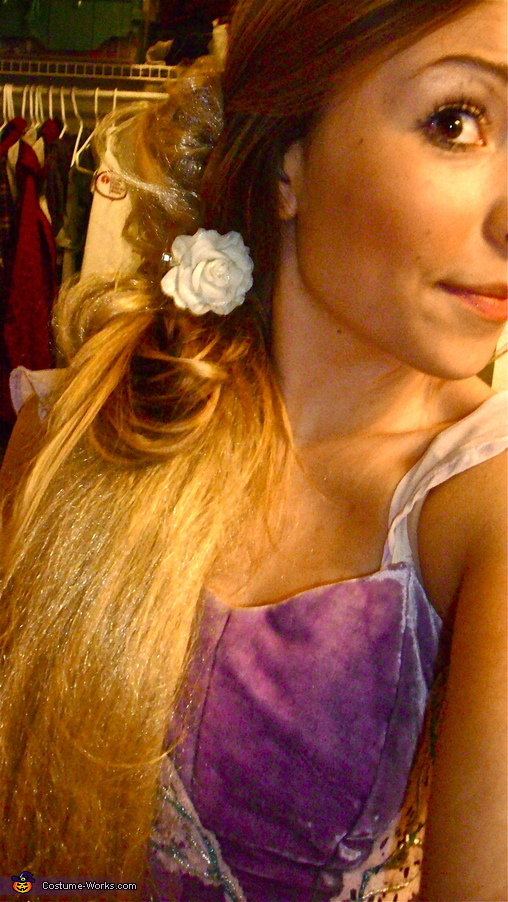 The hair, Disney's Rapunzel Costume