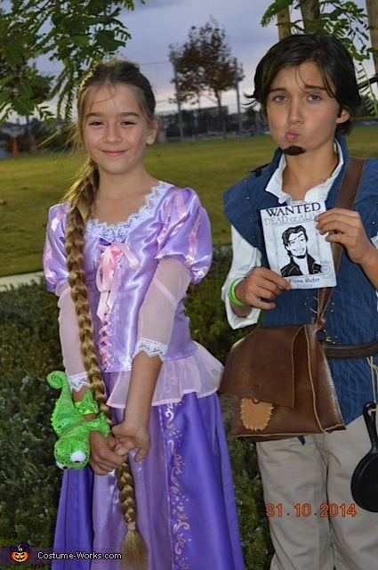 Ryan Veronick and Betty as Flynn Rider and Rapunzel from Disney Tangled, Tangled Rapunzel and Flynn Rider Costume