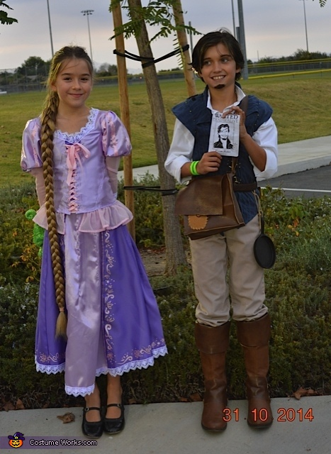 Tangled Rapunzel and Flynn Rider Costume