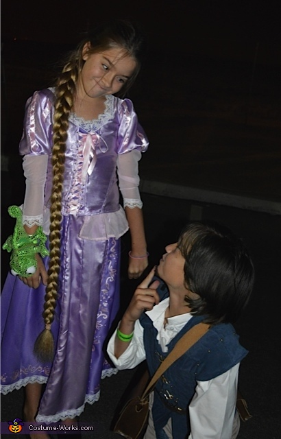 Ryan Veronick and Betty playing the roles so cute., Tangled Rapunzel and Flynn Rider Costume