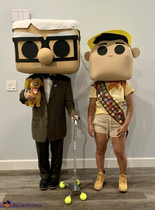 Disney's UP Carl & Russell Funko Pops Costume
