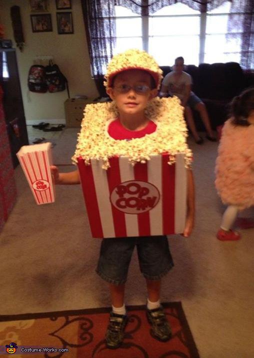 Homemade Popcorn Costume