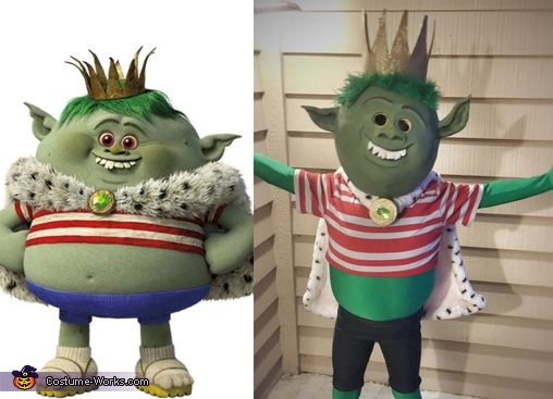 DJ Troll and King Gristle Jr. Homemade Costume