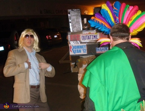 rear view, Doc Brown and The Delorean Costume