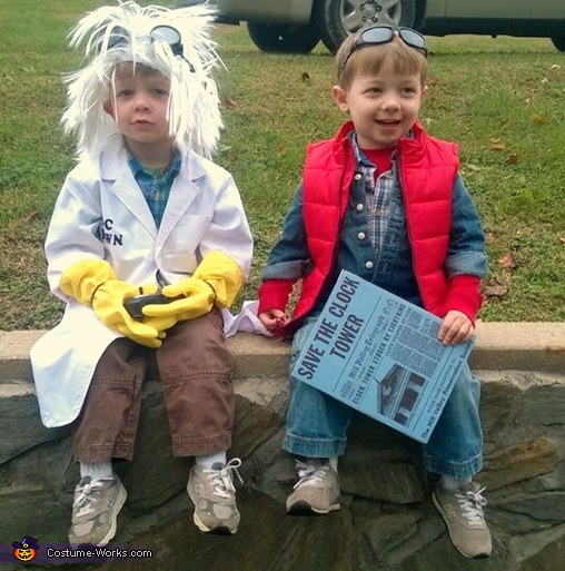 back to the future doc brown amp marty mcfly costume