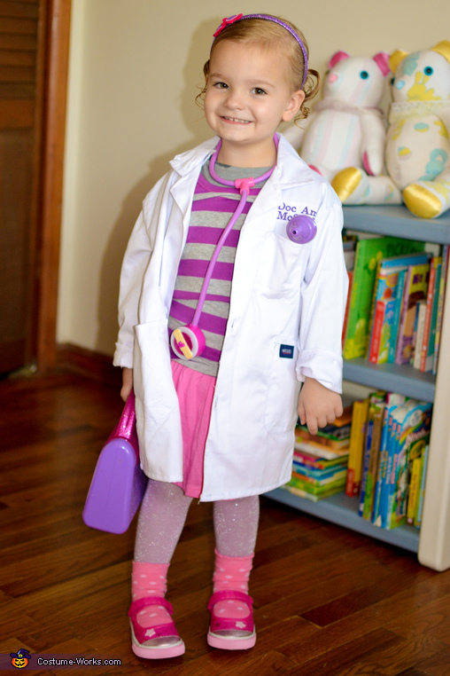 Amelia as Doc McStuffins, Doc McStuffins and Lambie Costume