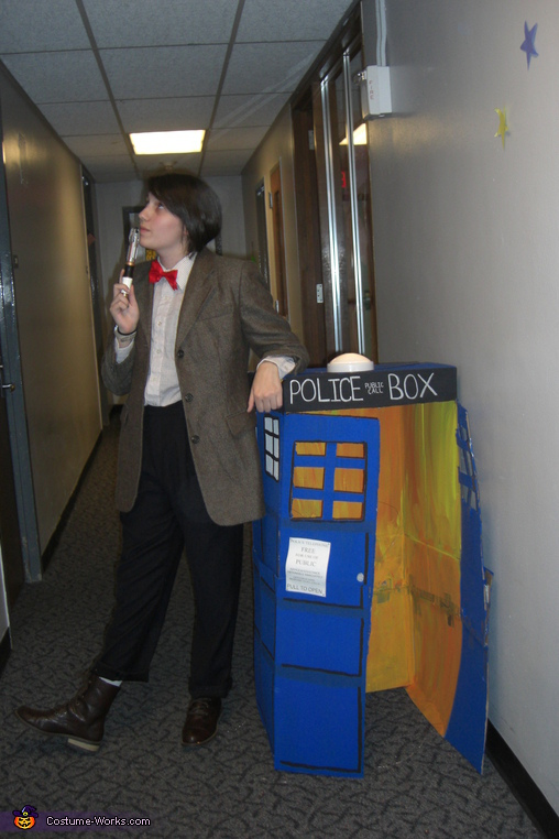Doctor with the TARDIS. Doctor Who in the Tardis - Homemade costumes for adults