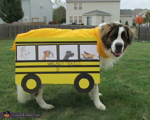 Dog School Bus Costume