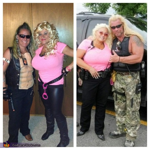 Comparison to the real Dog and Beth, Dog the Bounty Hunter and wife Beth Costume