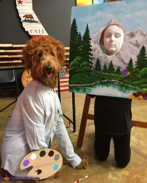 Dog Ross love Happy Trees, Dogald Trump & Hillary Costume