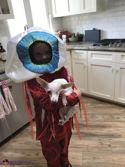 Dog's Eyeball Homemade Costume
