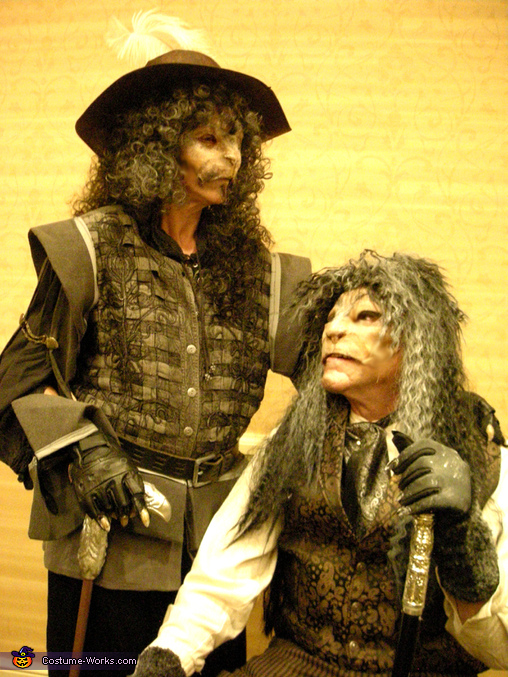 'Suave' (Dino, left) and 'Debonaire' (Julia, right), Don Vincenzo and Don Vincente Costume